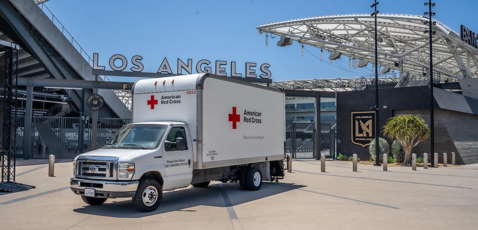 About - Red Cross LA truck